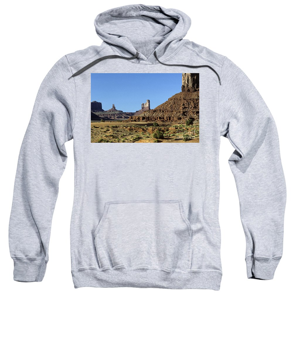 Adventure Sweatshirt featuring the photograph Monument Valley Arizona State Usa by Jim Corwin