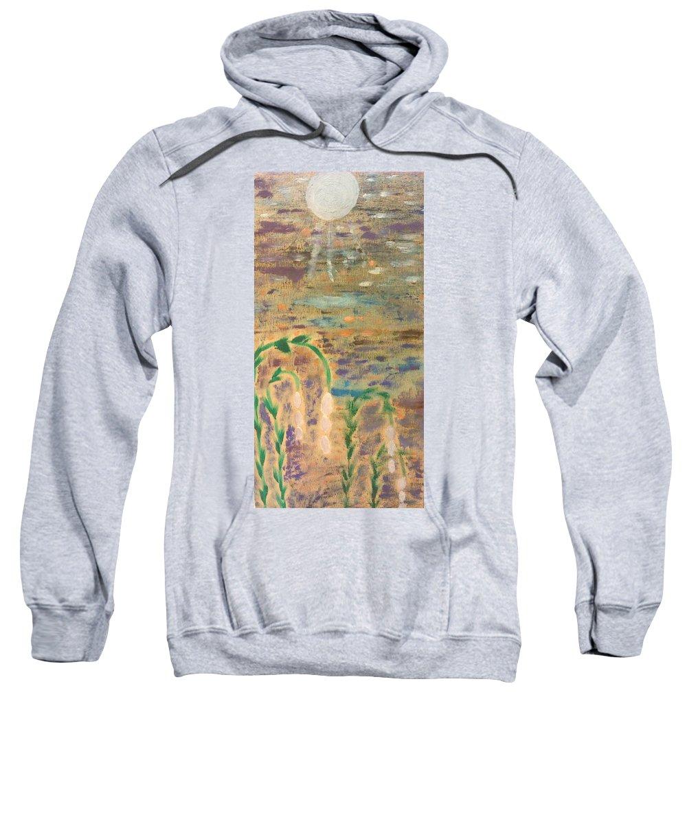 Landscape Sweatshirt featuring the painting Moon Flowers by Jill Ledet