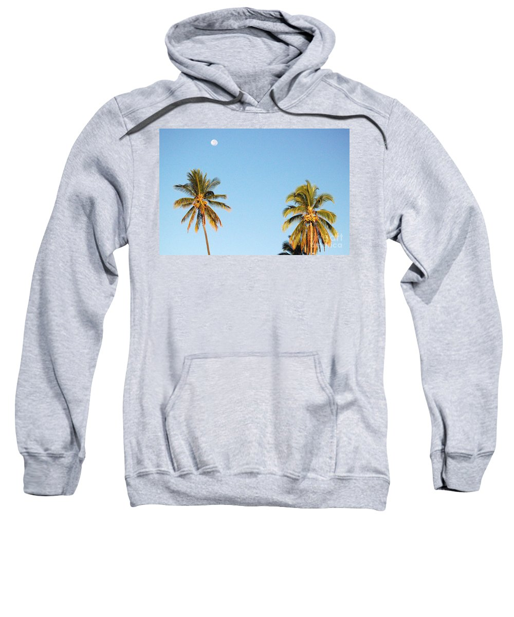 Moon Sweatshirt featuring the photograph Moon Over Molokai by Terry Holliday