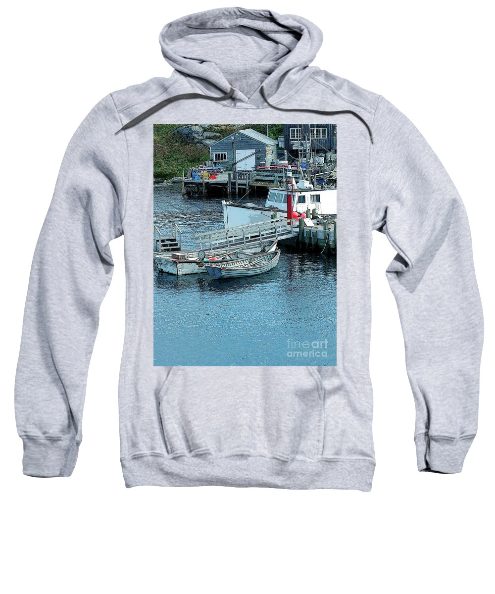 Row Sweatshirt featuring the photograph More Boats by Kathleen Struckle