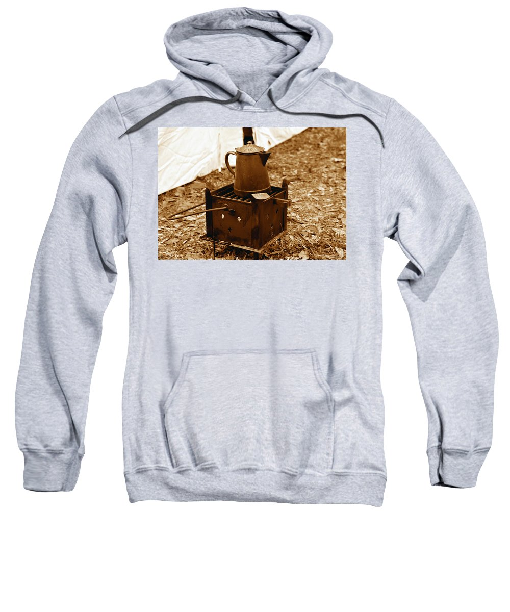 Coffee Sweatshirt featuring the photograph Morning Brew by David Lee Thompson