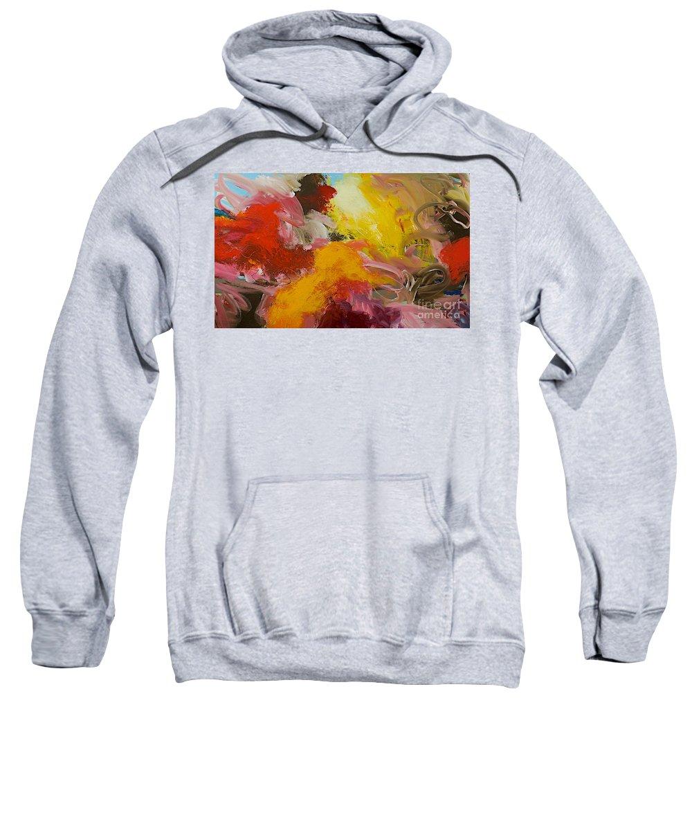 Landscape Sweatshirt featuring the painting Morning Burst by Allan P Friedlander