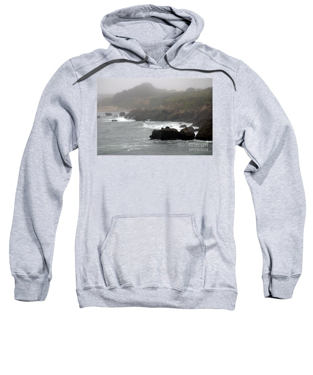 Fog Sweatshirt featuring the photograph Morning Fog - Pacific Coast Highway No. 2 by John Greco