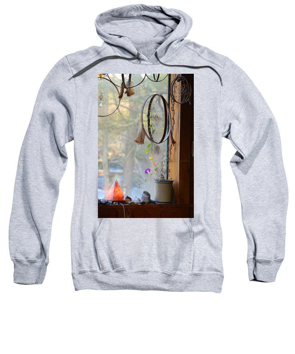 Dream Catcher Sweatshirt featuring the photograph Morning Glory Dreams by Thomas Phillips