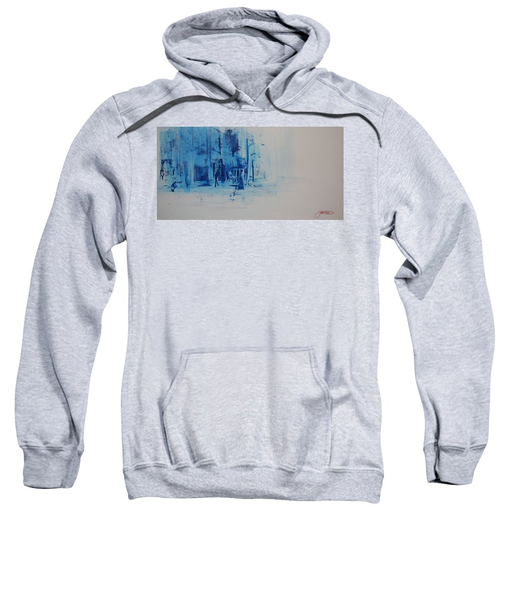 Jack Sweatshirt featuring the painting Morning In The City by Jack Diamond