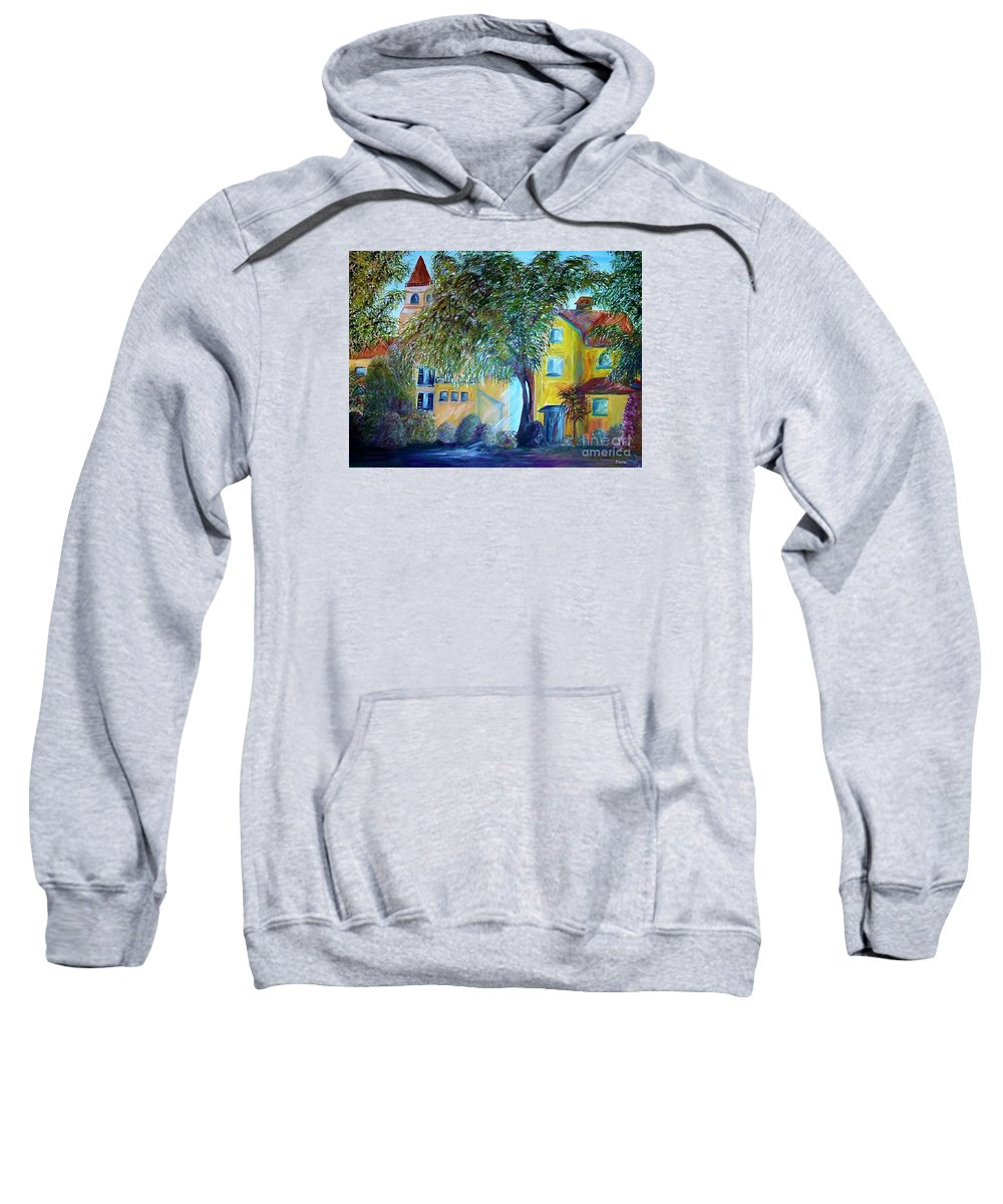 Tuscan Sweatshirt featuring the painting Morning In Tuscany by Eloise Schneider