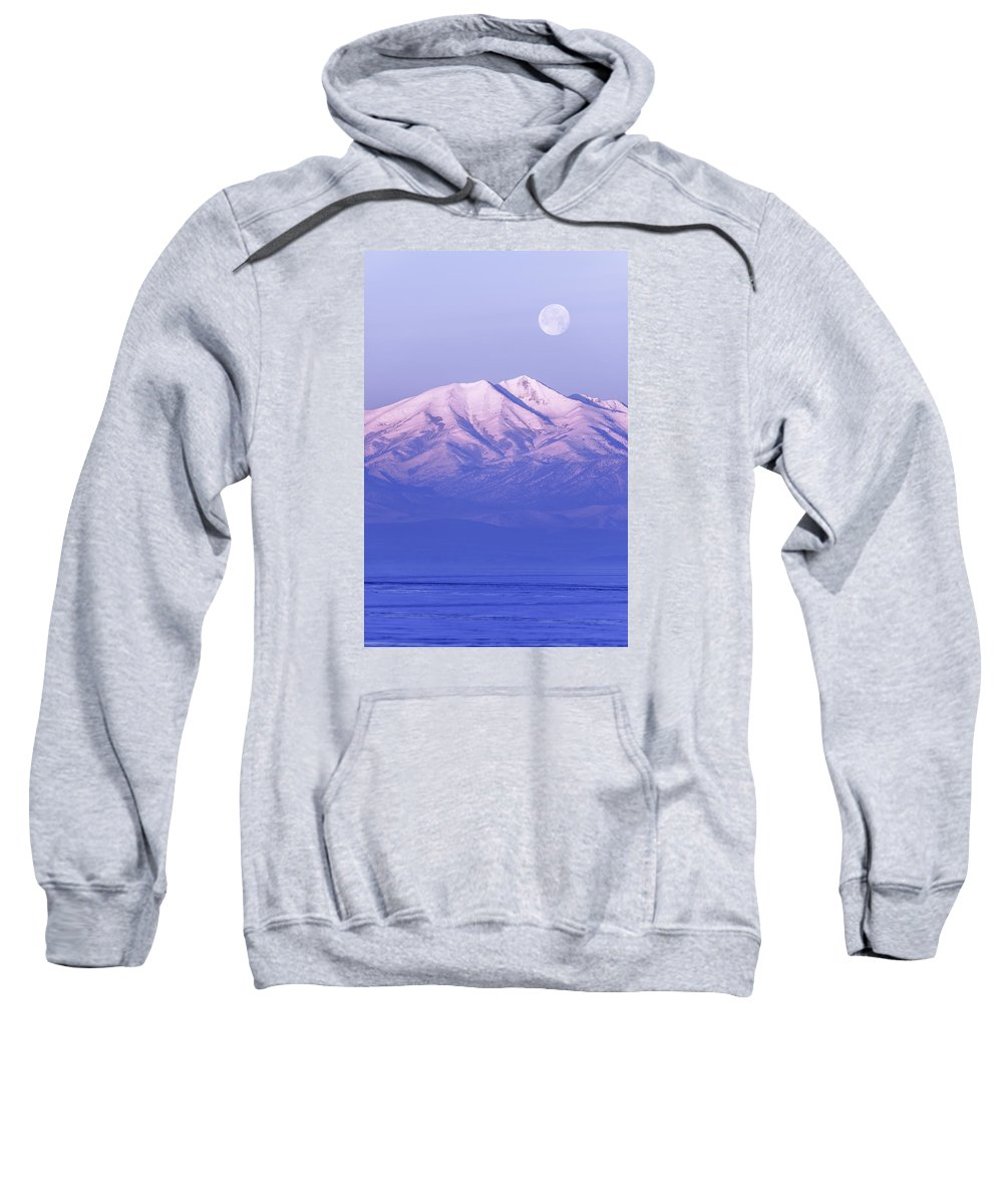 Morning Moon Sweatshirt featuring the photograph Morning Moon by Chad Dutson