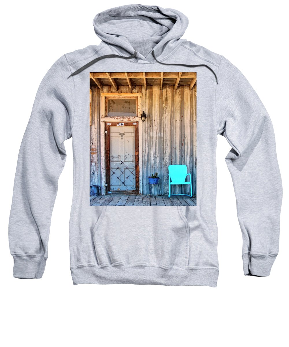 Pioneertown Sweatshirt featuring the photograph Morning Sun Pioneer Town by William Dey