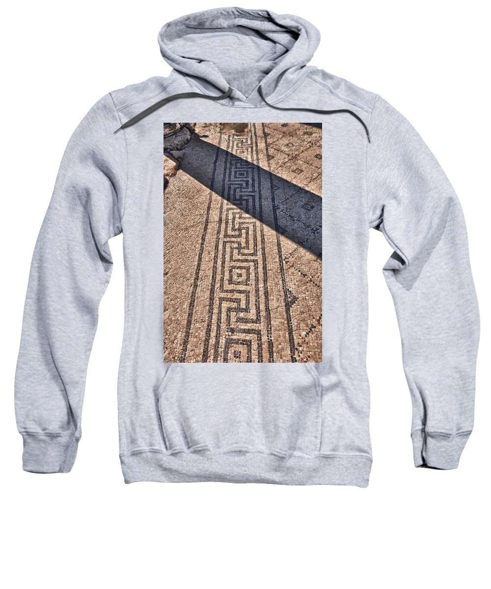Israel Sweatshirt featuring the photograph Mosaic 1 Beit Sha'en Israel by Mark Fuller