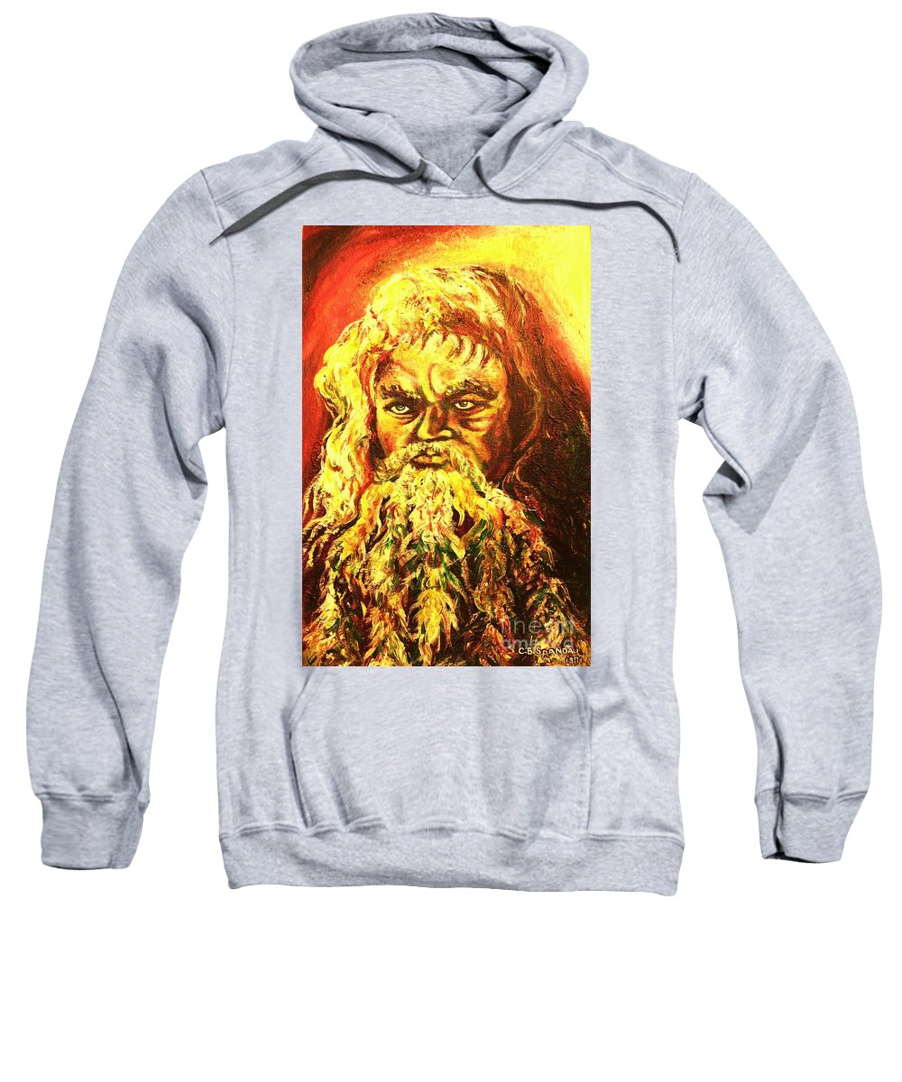 Moses Sweatshirt featuring the painting Moses At The Burning Bush by Carole Spandau