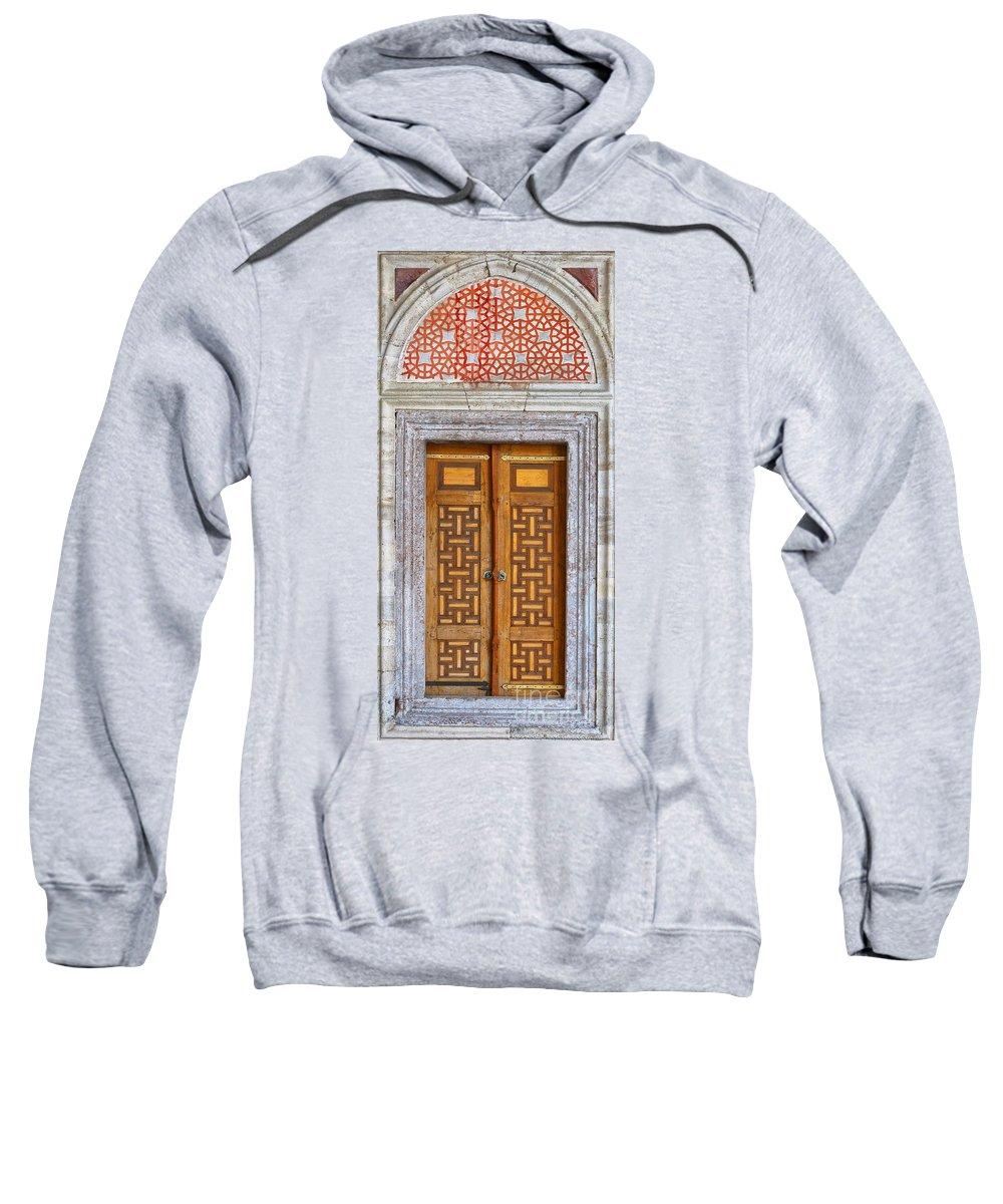 Door Sweatshirt featuring the photograph Mosque Doors 05 by Antony McAulay