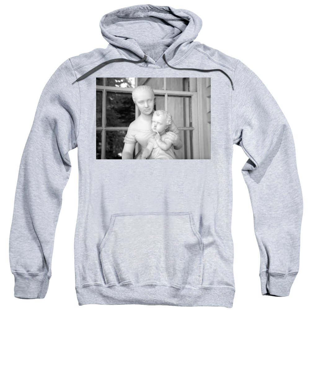 Statue Sweatshirt featuring the photograph Mother And Child Statue by John Cardamone