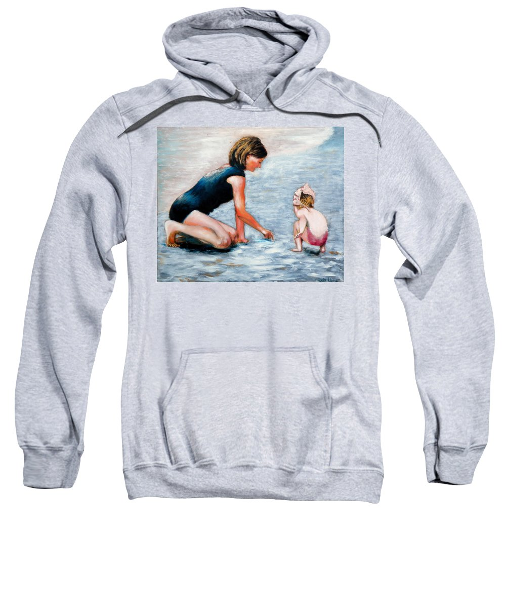 Mother And Child Sweatshirt featuring the painting Mother And Child 1 by Uma Krishnamoorthy