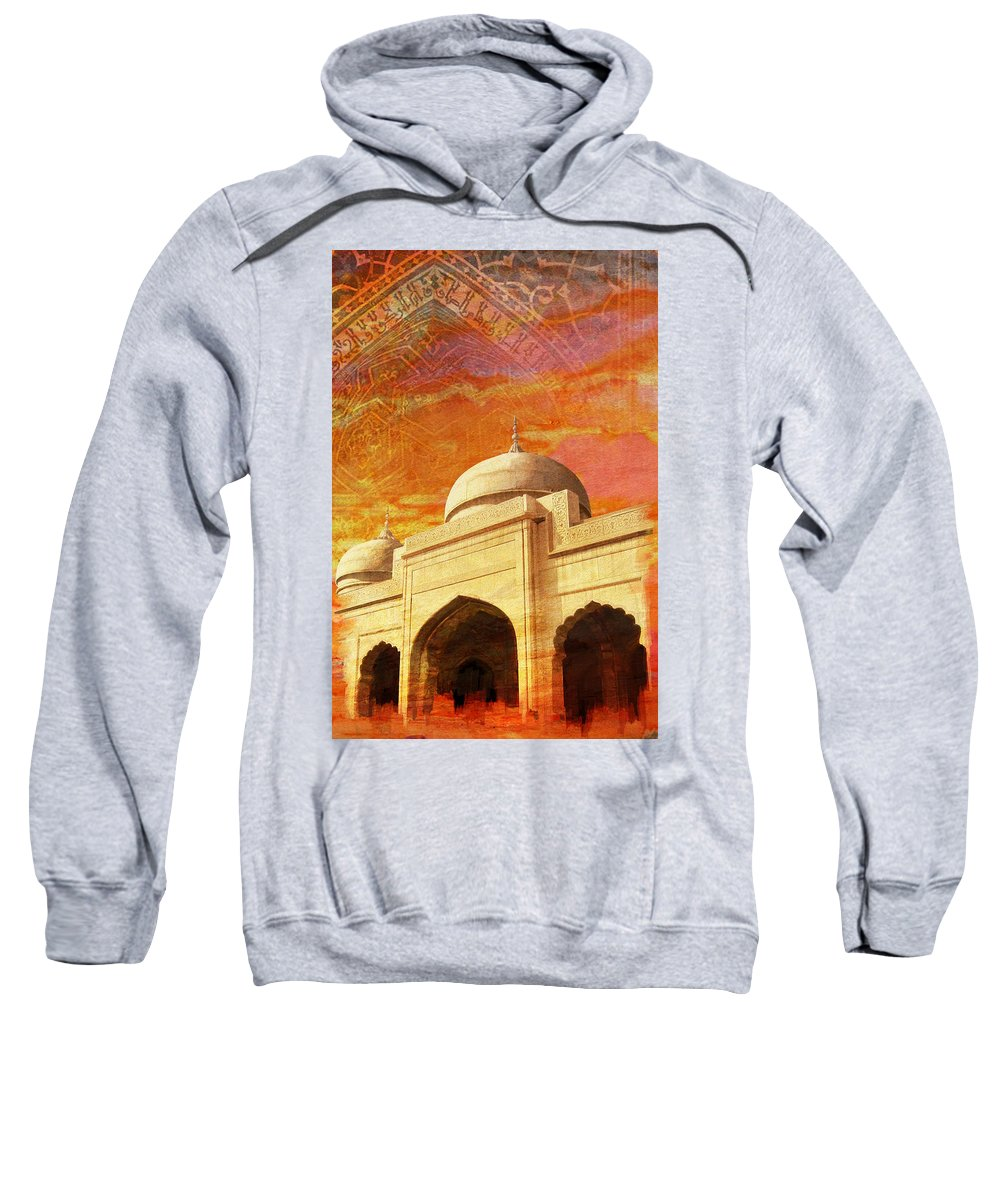 Pakistan Sweatshirt featuring the painting Moti Masjid by Catf