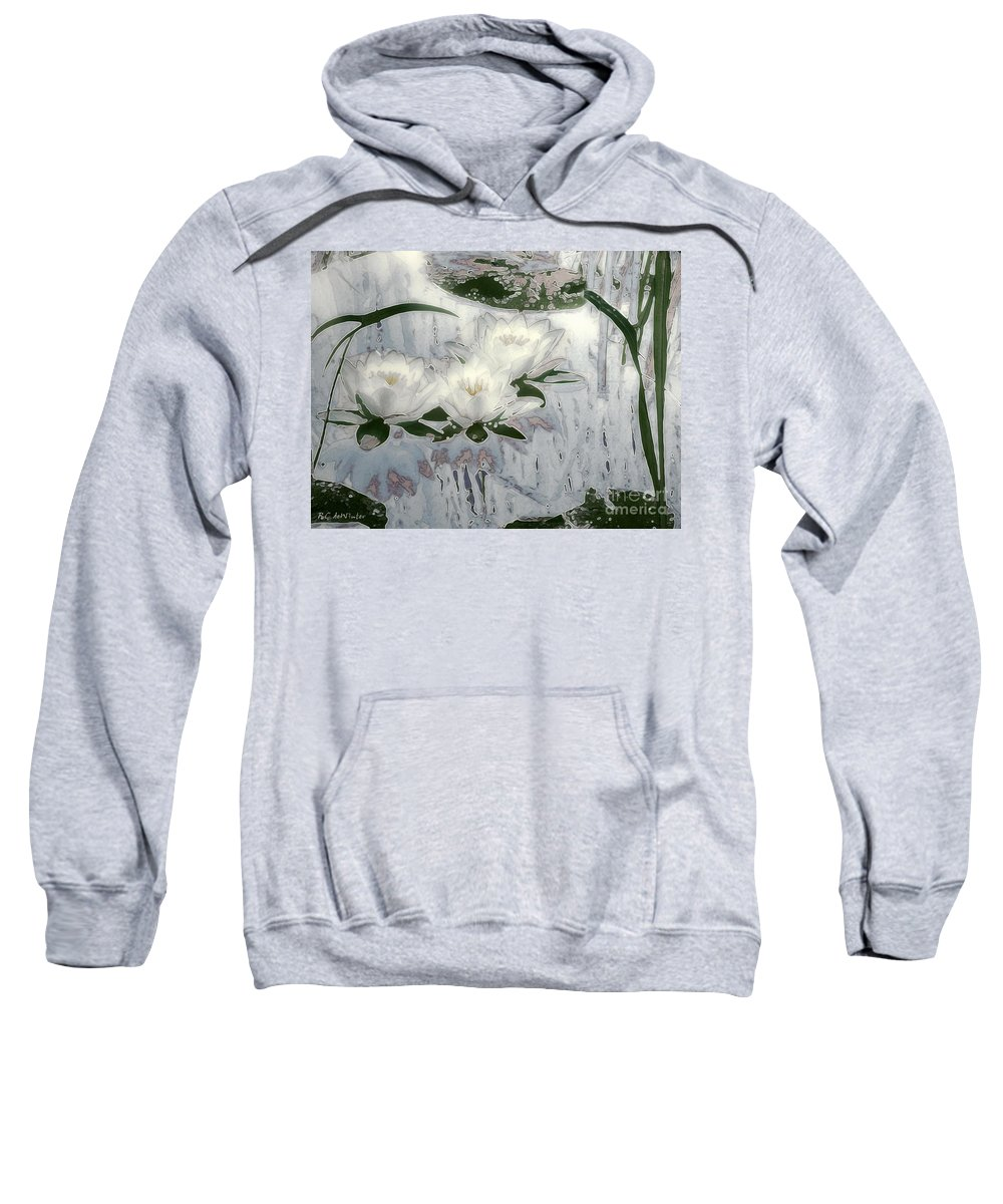 Asian Sweatshirt featuring the painting Motif Japonica No. 1 by RC DeWinter