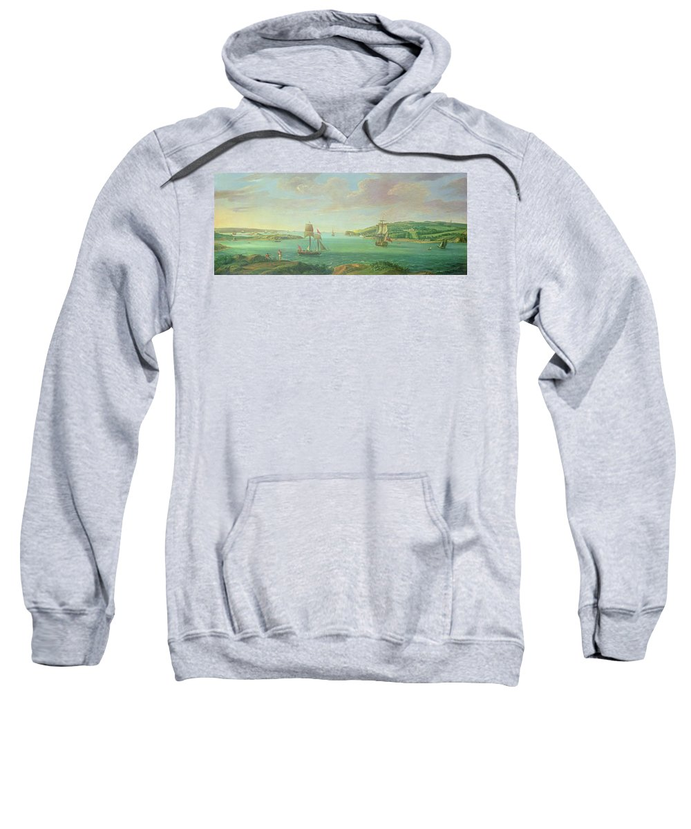 Plymouth Sound Sweatshirt featuring the painting Mount Edgcumbe by Banfield