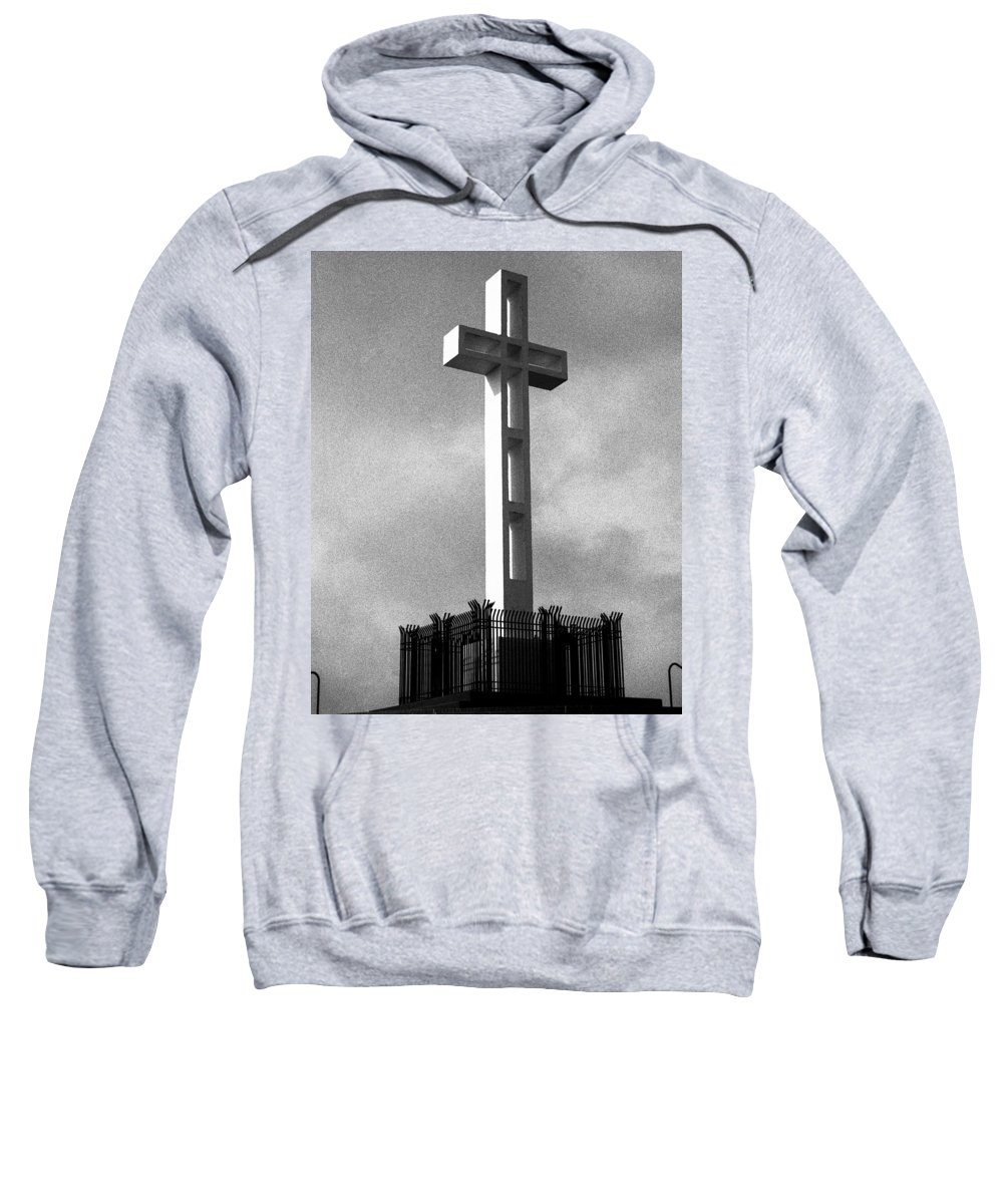 Mount Soledad Cross Sweatshirt featuring the photograph Mount Soledad Cross 2 by Alex Snay