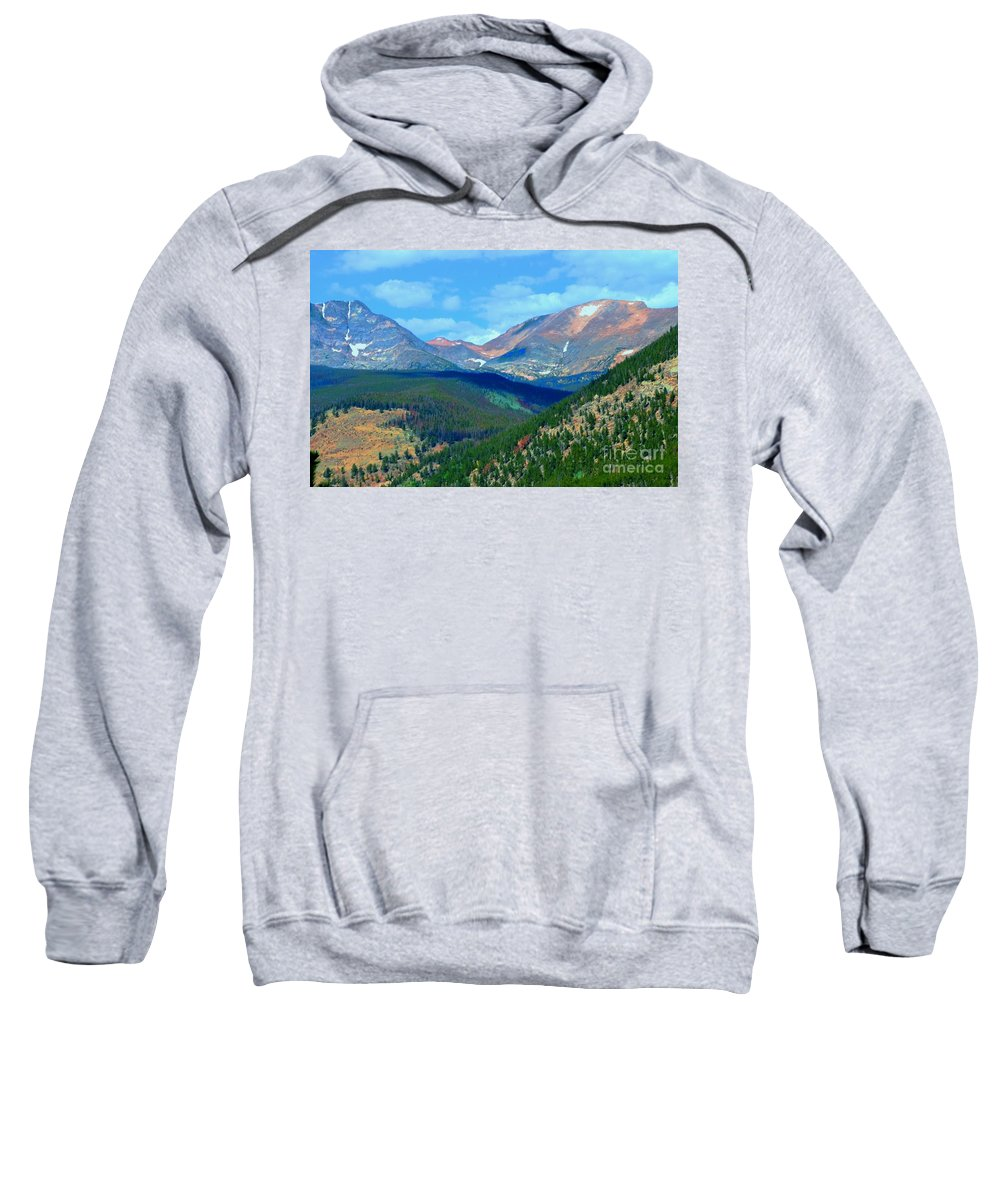Rocky Sweatshirt featuring the photograph Mountain Top Color by Kathleen Struckle