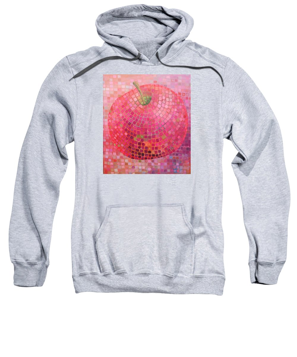 Mosaic Sweatshirt featuring the painting Mozaic Apple by Muntean Floare