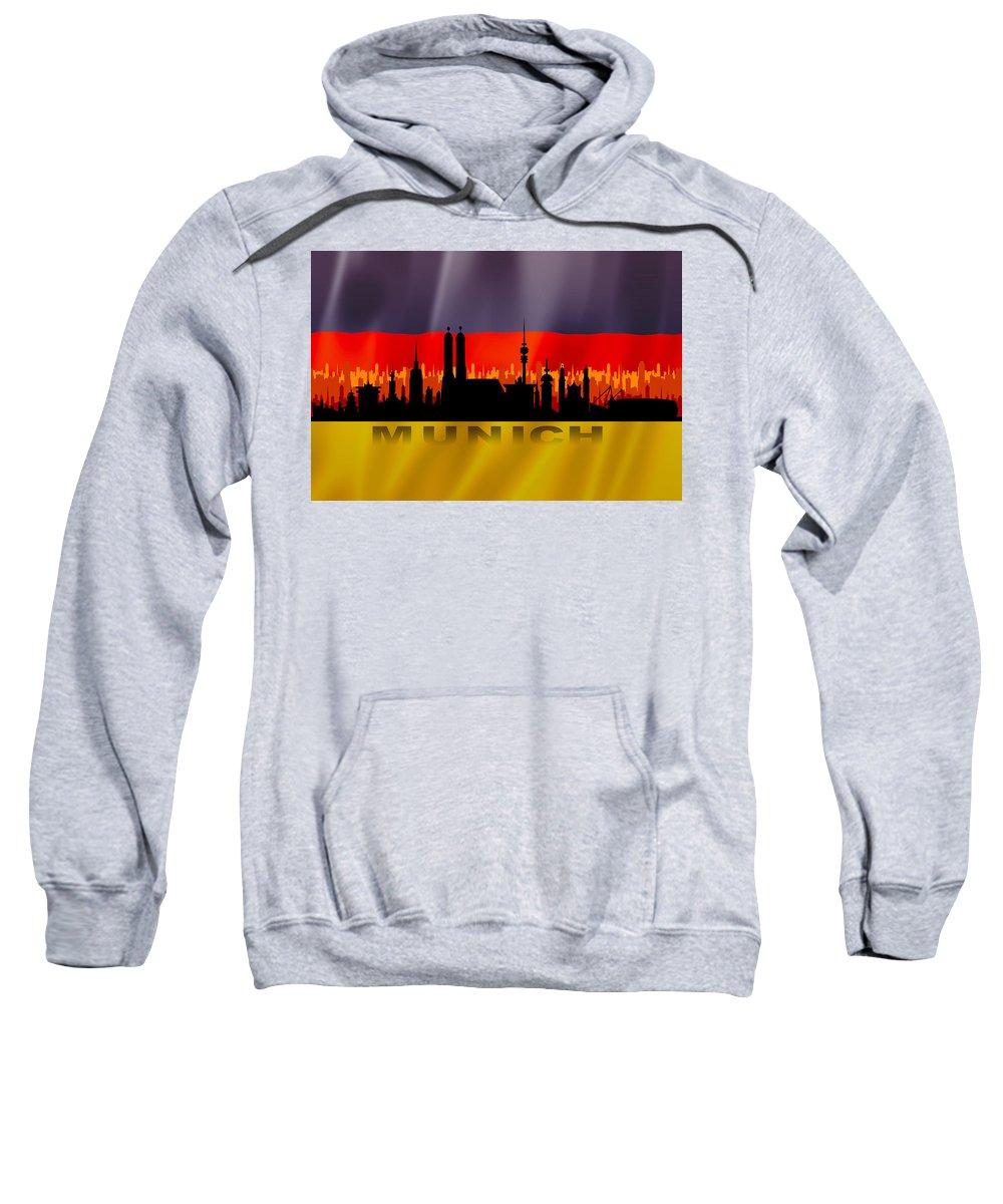 Architecture Sweatshirt featuring the digital art Munich City by Don Kuing