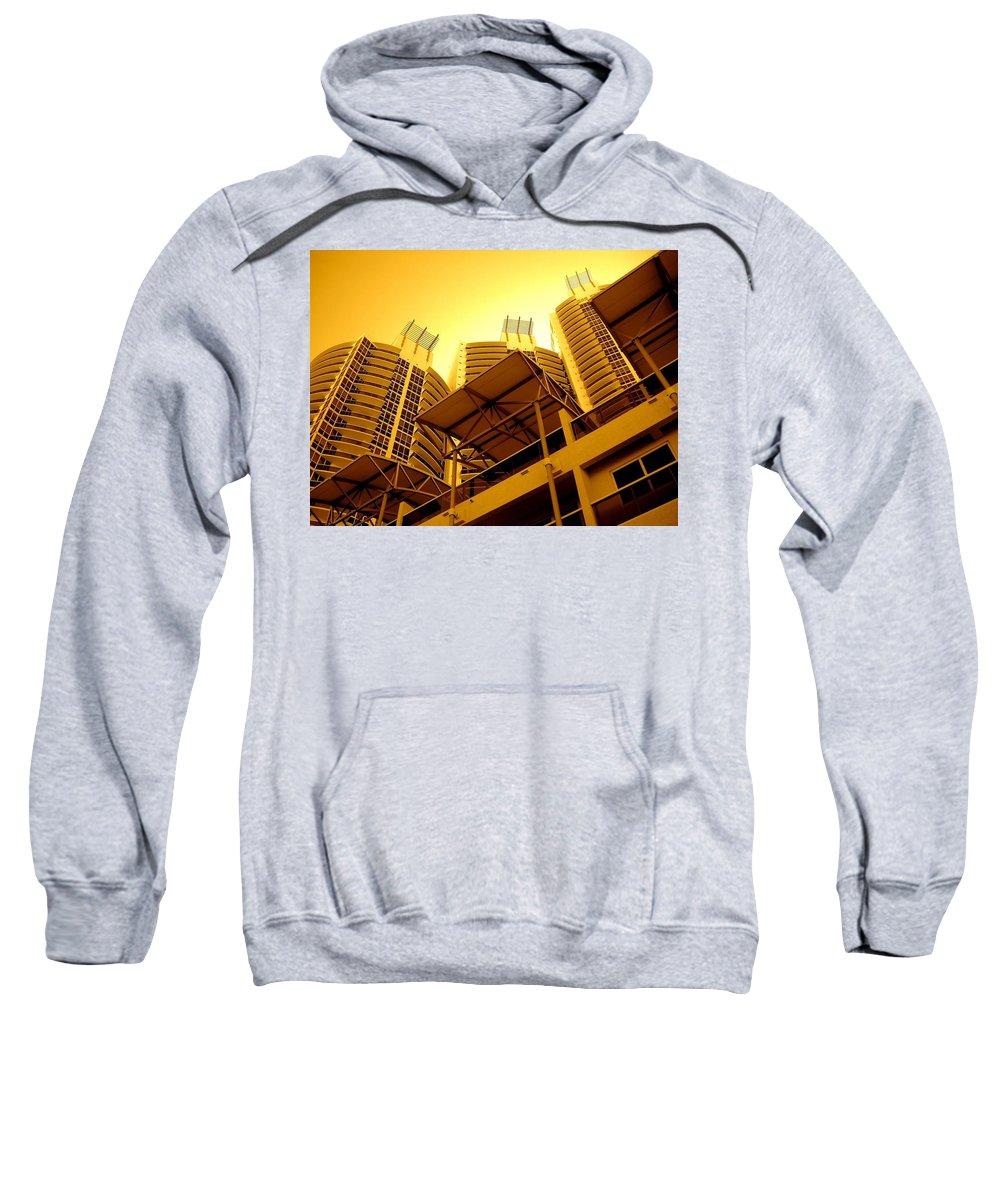 Murano Building Miami Print Sweatshirt featuring the photograph Murano Grande, Miami by Monique's Fine Art