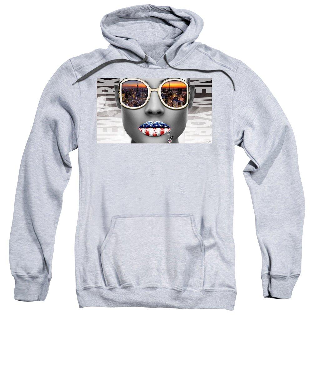 Woman Sweatshirt featuring the digital art Musa New York by Jean raphael Fischer