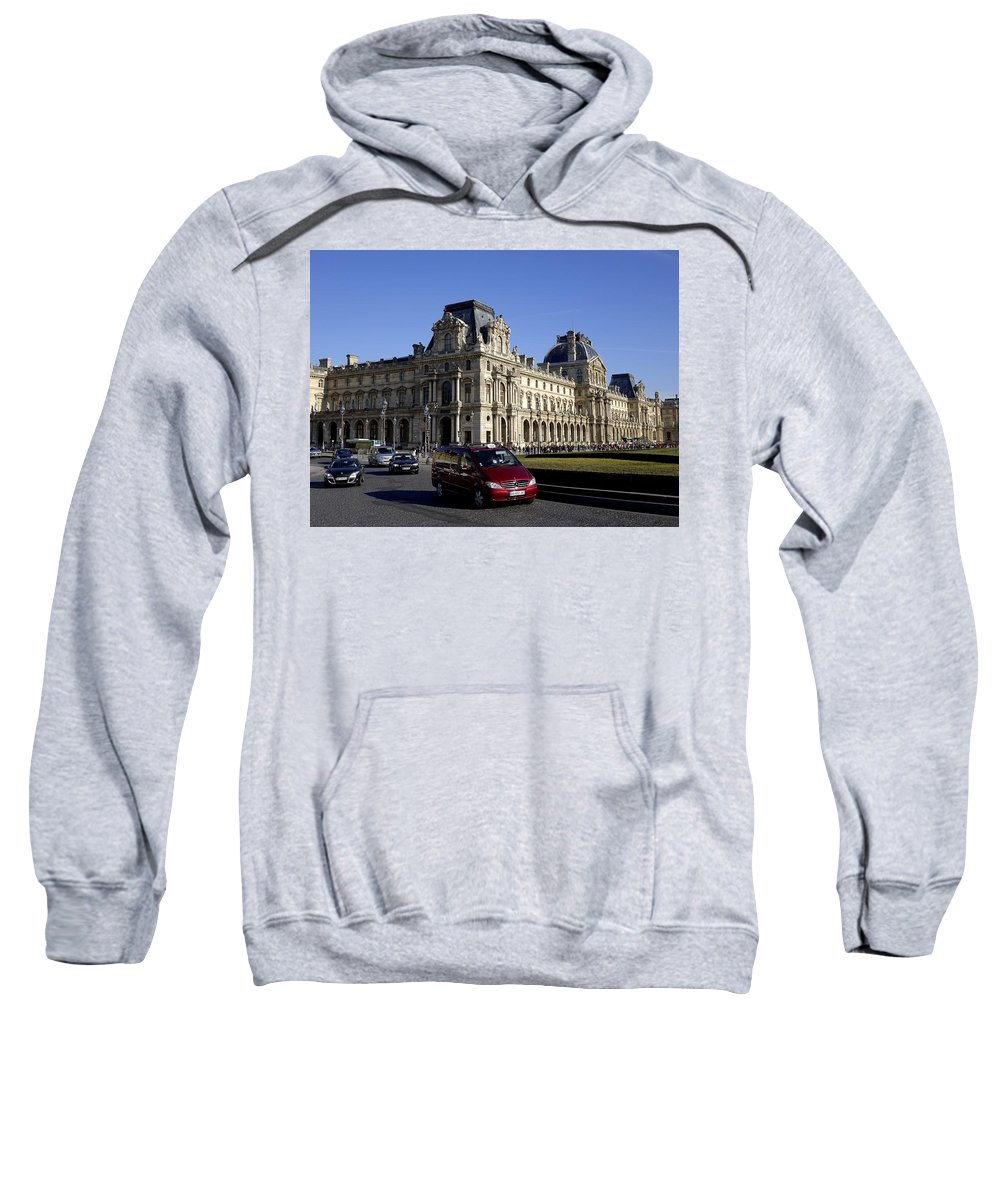 Paris Sweatshirt featuring the photograph Musee Du Louvre In Paris France by Richard Rosenshein