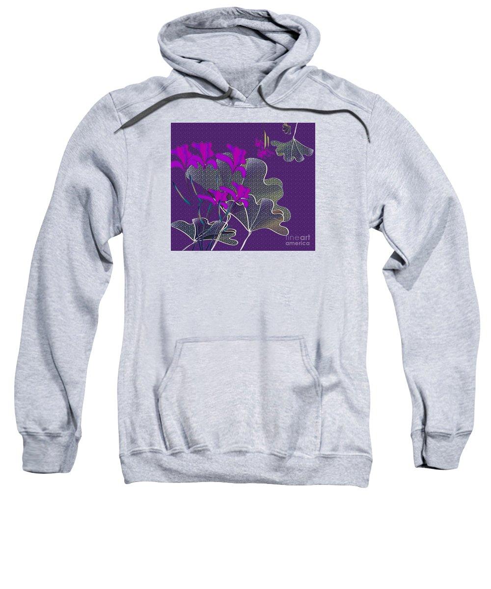 Flowers Sweatshirt featuring the digital art My Irises by Iris Gelbart