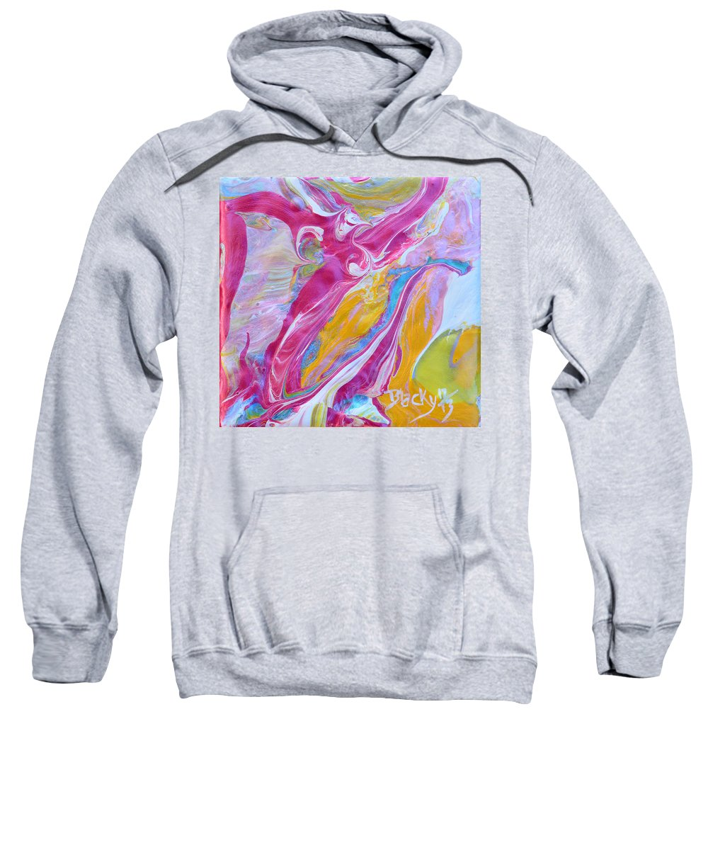 Fly Sweatshirt featuring the painting My Turn To Fly by Donna Blackhall