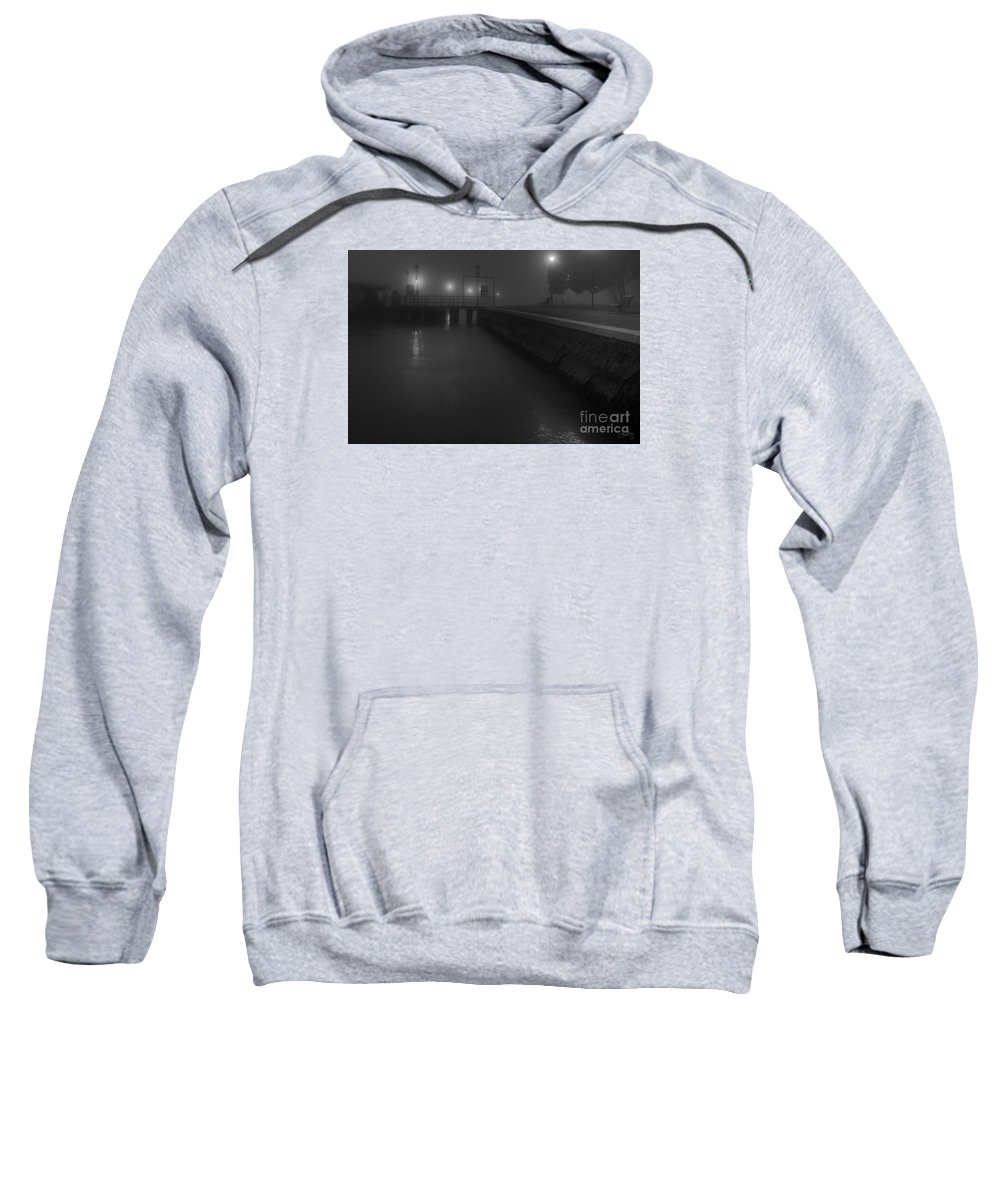 Foggy Night Sweatshirt featuring the photograph Mysterious Venetian Night by Prints of Italy