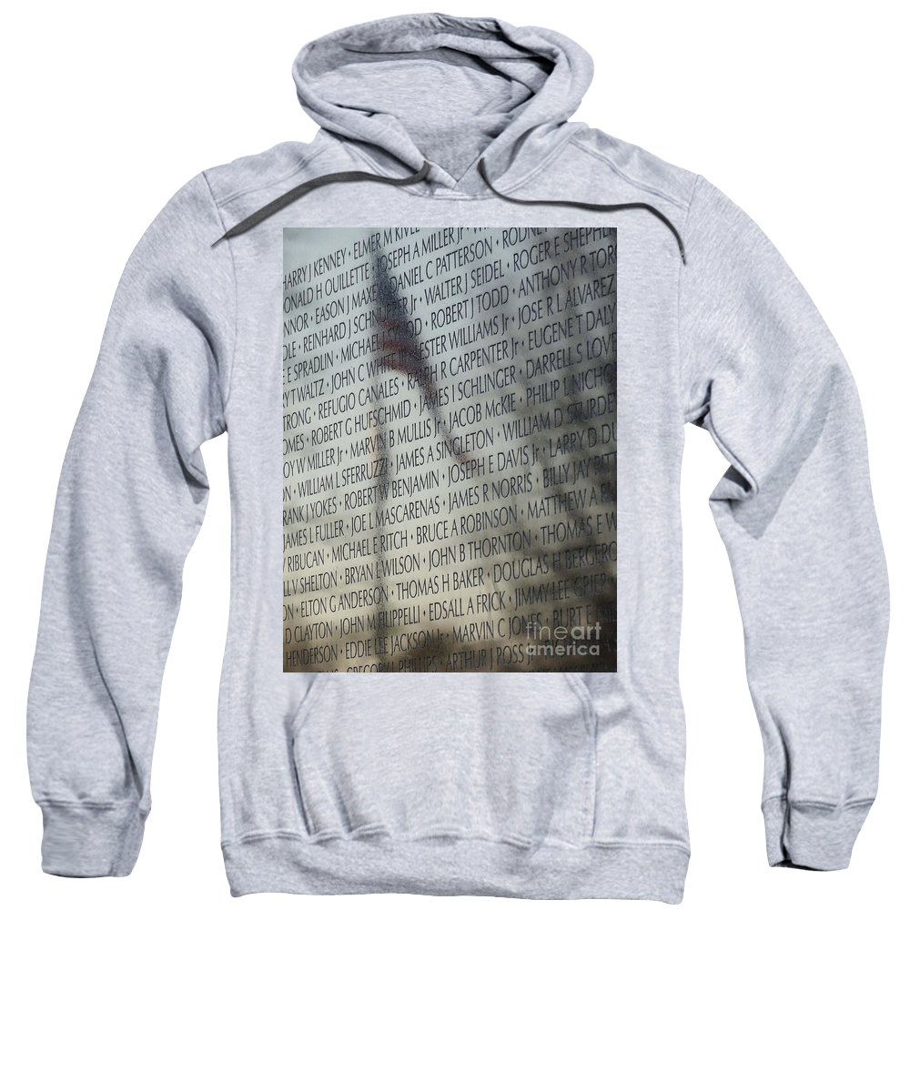 Vietnam Sweatshirt featuring the photograph Names On A Wall by Cindy Manero