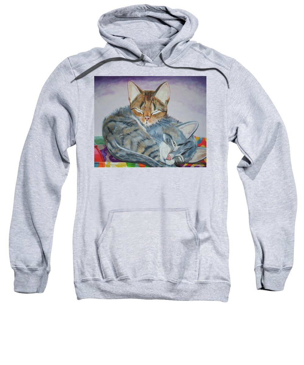 Pillow Sweatshirt featuring the painting Nap Time by Thomas J Herring