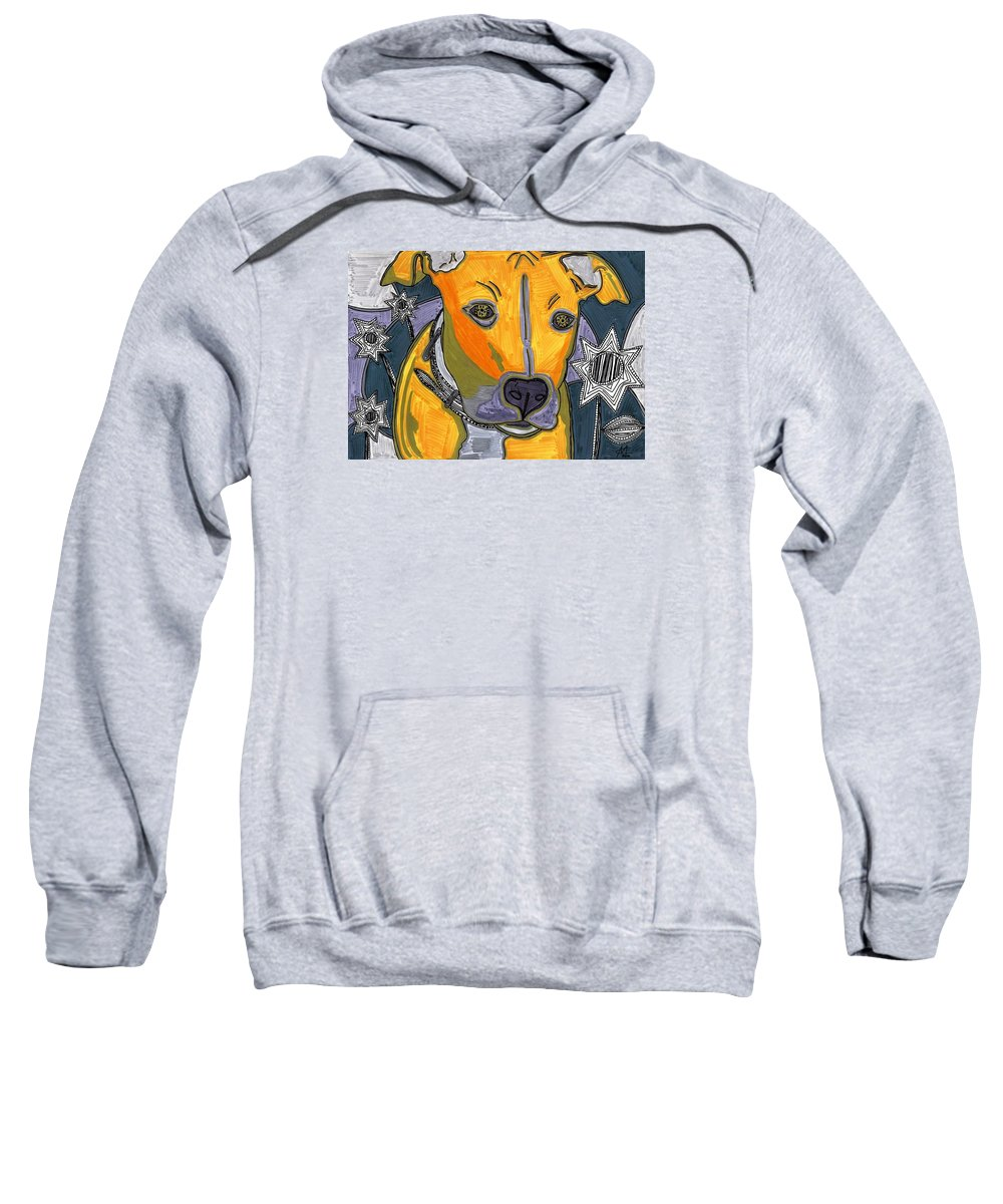 Dogs Sweatshirt featuring the drawing Nas Indeed by Mercedes Caceres