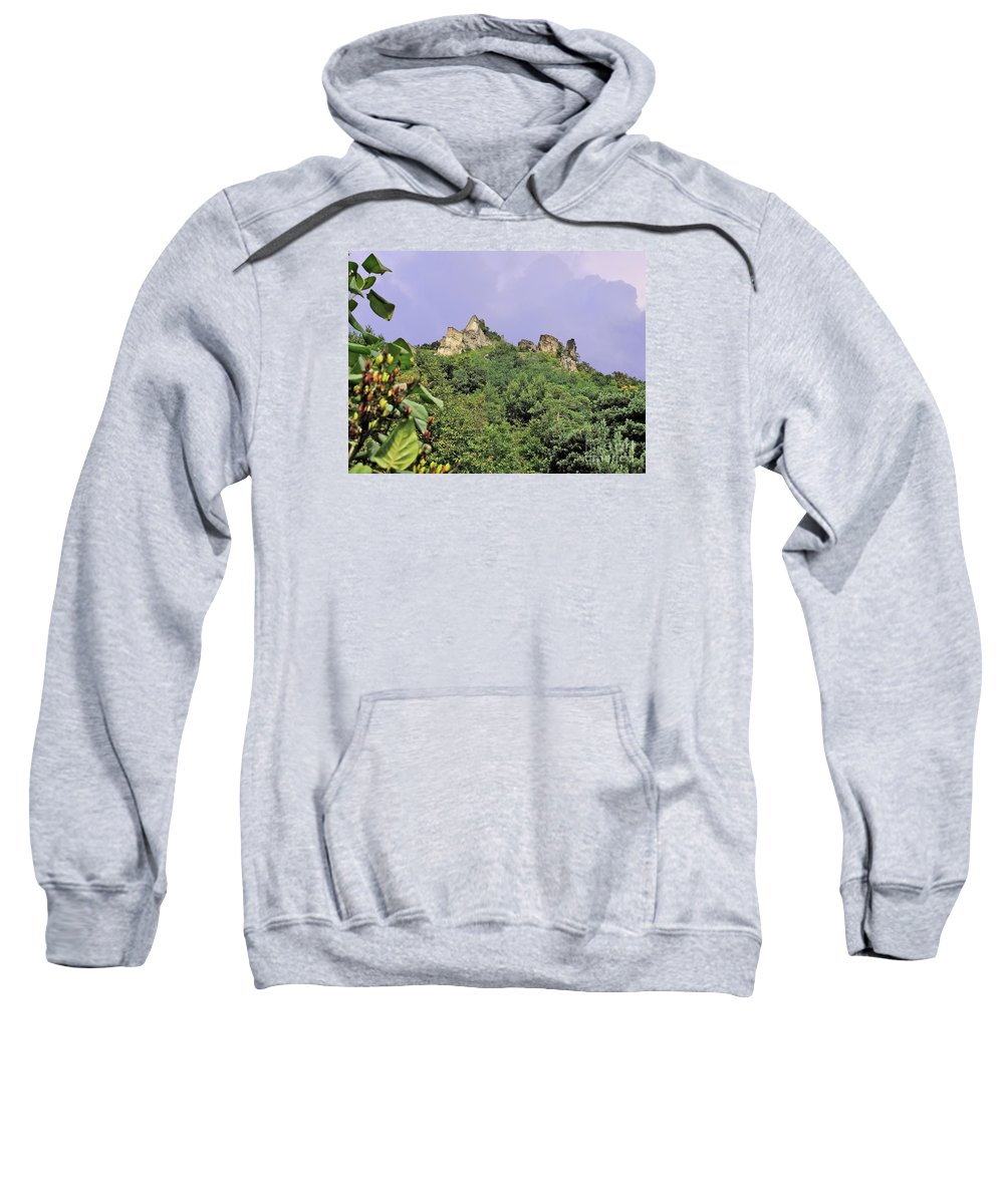 Travel Sweatshirt featuring the photograph Nature And Medieval Ruins by Elvis Vaughn