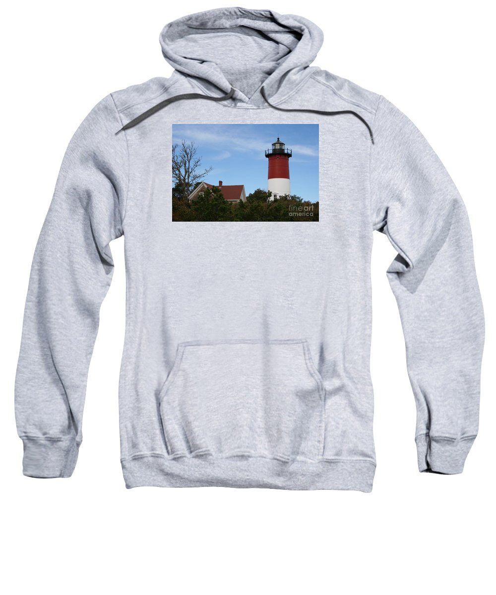 Lighthouse Sweatshirt featuring the photograph Nauset Beach Light by Christiane Schulze Art And Photography