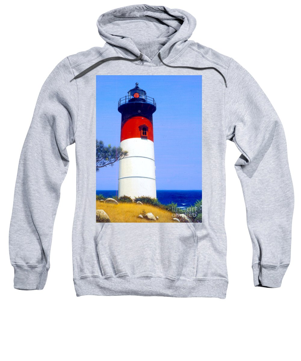 Architecture Sweatshirt featuring the photograph Nauset Beach by MGL Studio - Chris Hiett
