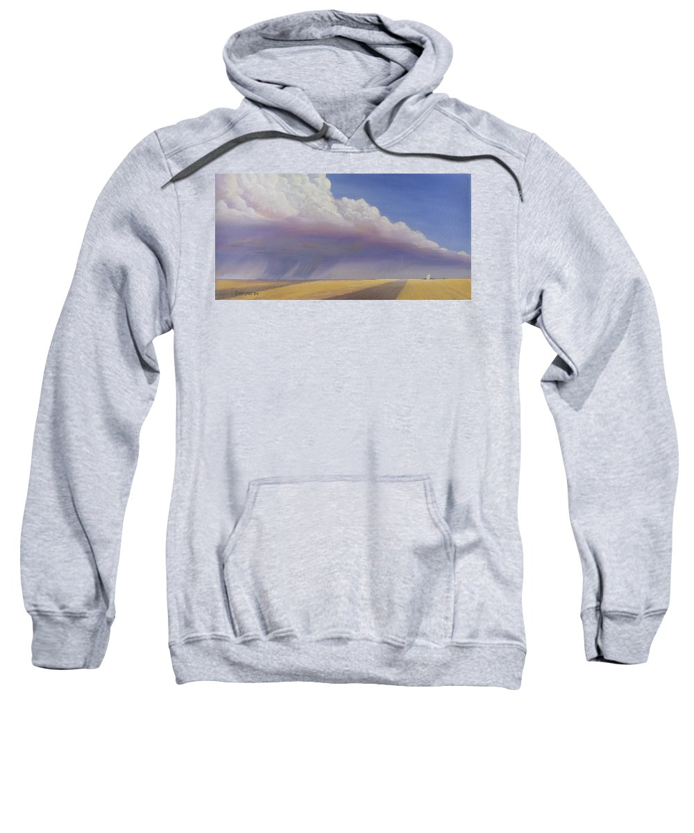 Landscape Sweatshirt featuring the painting Nebraska Vista by Jerry McElroy