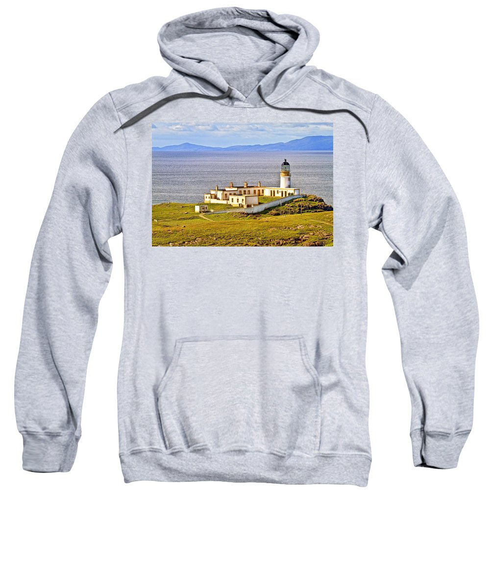 Landscape Sweatshirt featuring the photograph Neist Point Lighthouse Isle Of Skye by Marcia Colelli