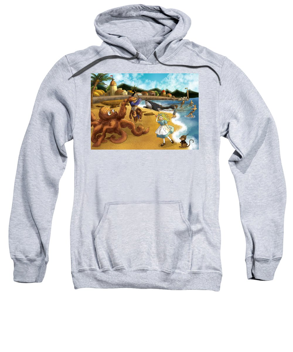 Wurtherington Sweatshirt featuring the painting Nellie The Octopus by Reynold Jay