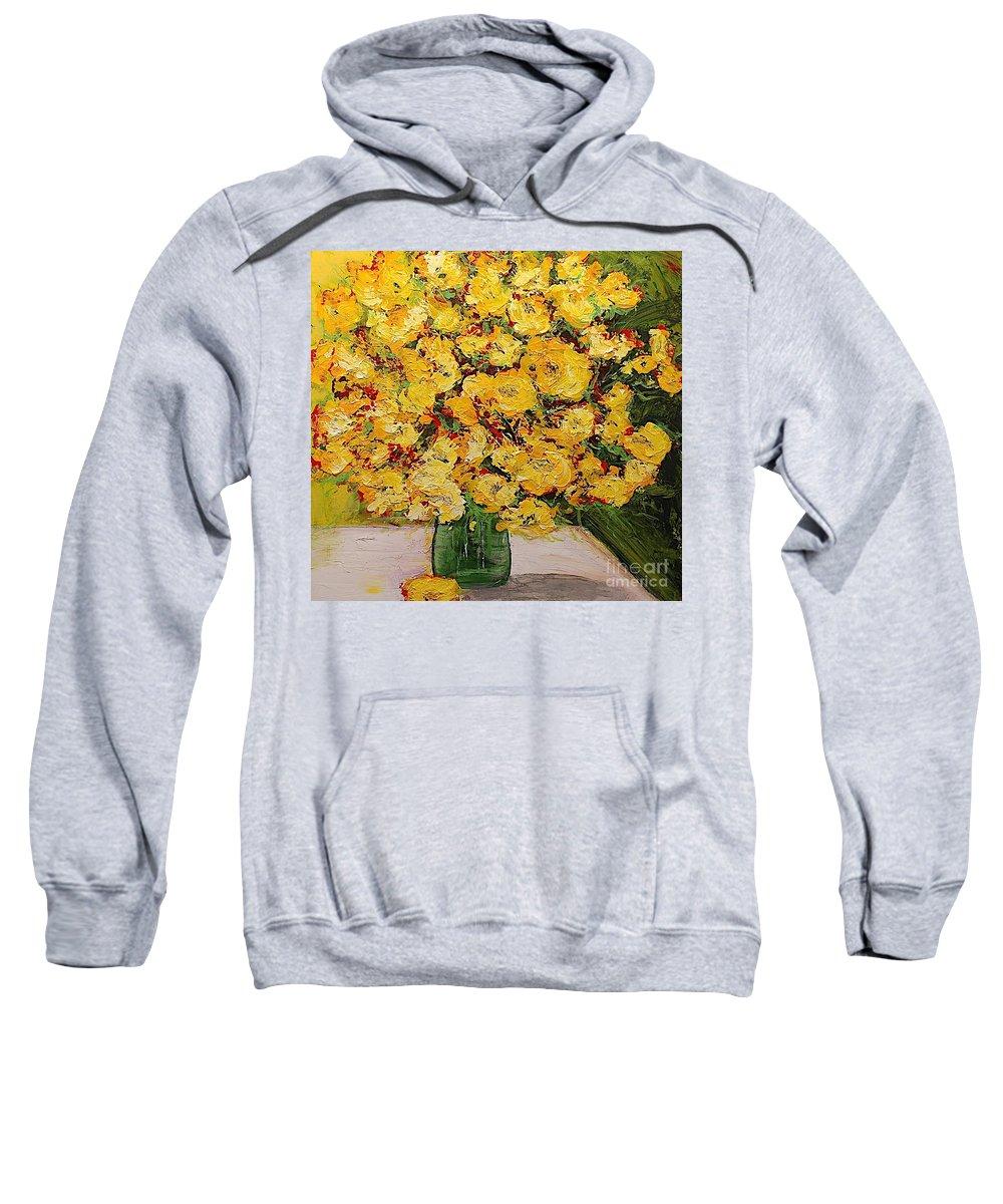 Landscape Sweatshirt featuring the painting New Beginnings by Allan P Friedlander