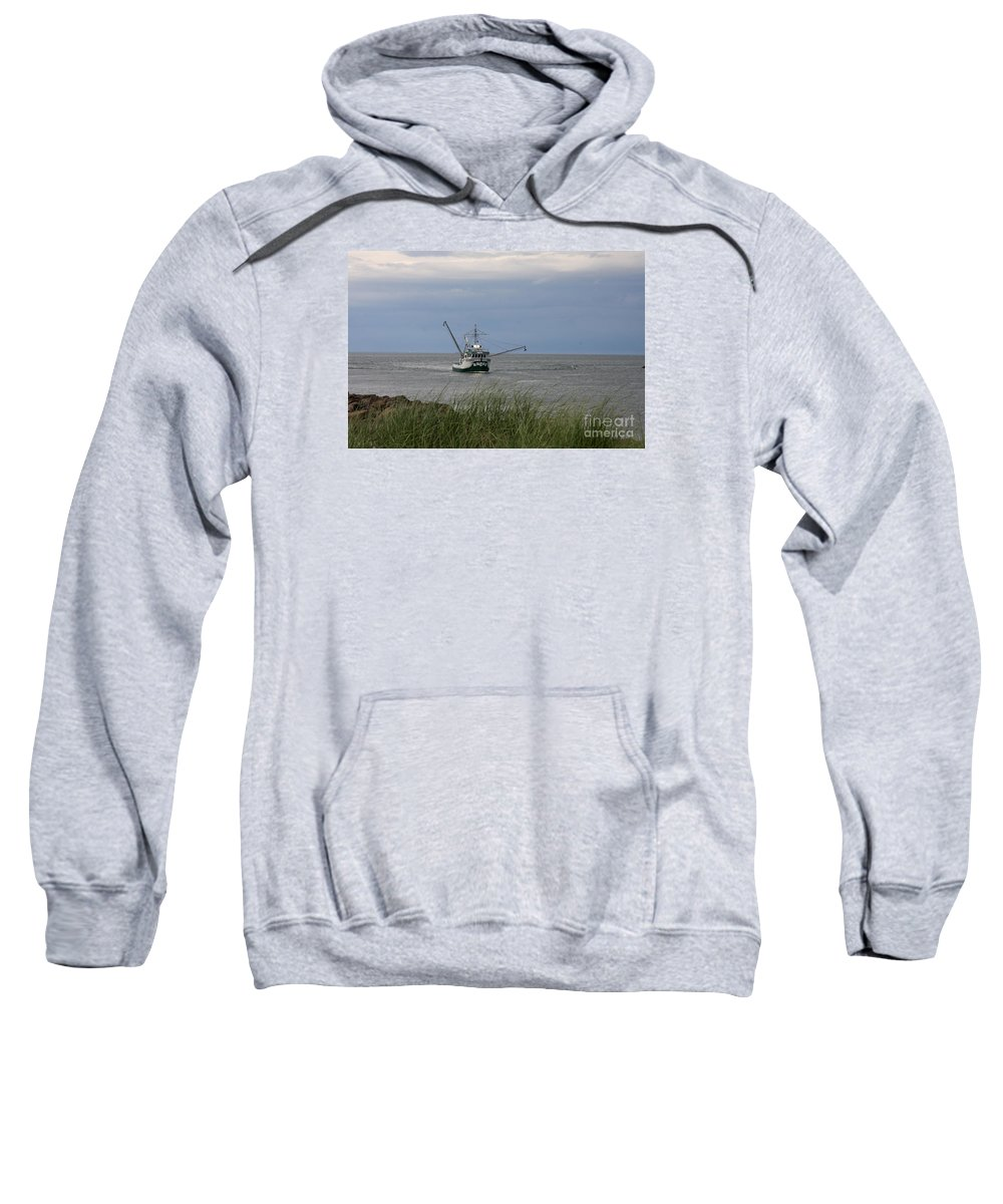 Arriving At The Harbor Sweatshirt featuring the photograph New Species After Work by Christiane Schulze Art And Photography
