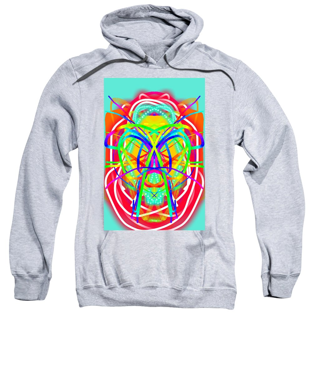 Kaleidoscope Sweatshirt featuring the painting New Toy 4 by Bruce Nutting