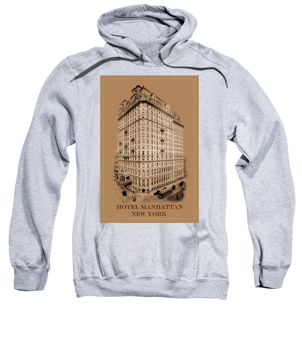 New York Sweatshirt featuring the photograph New York Landmarks 8 by Andrew Fare