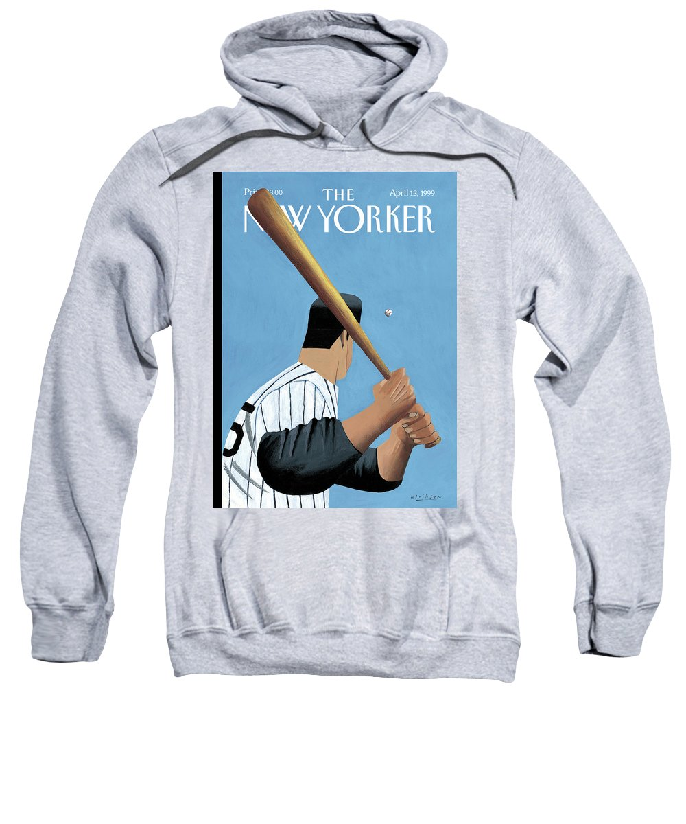 Opening Day Sweatshirt featuring the painting New Yorker April 12th, 1999 by Mark Ulriksen