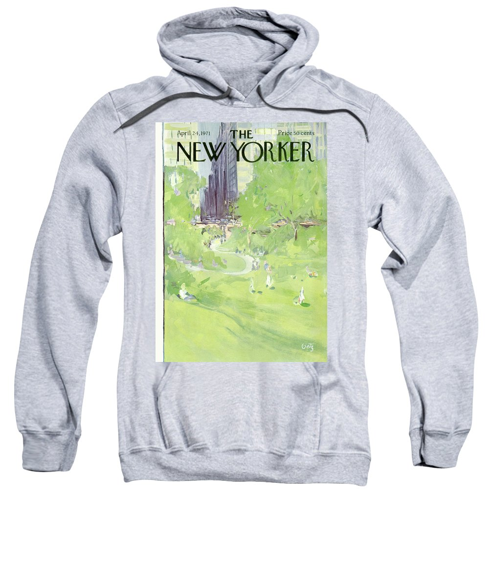 Urban Sweatshirt featuring the painting New Yorker April 24th, 1971 by Arthur Getz