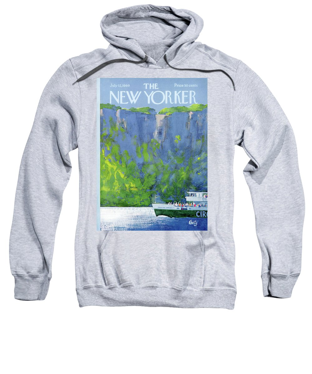 Leisure Sweatshirt featuring the painting New Yorker July 12th, 1969 by Arthur Getz