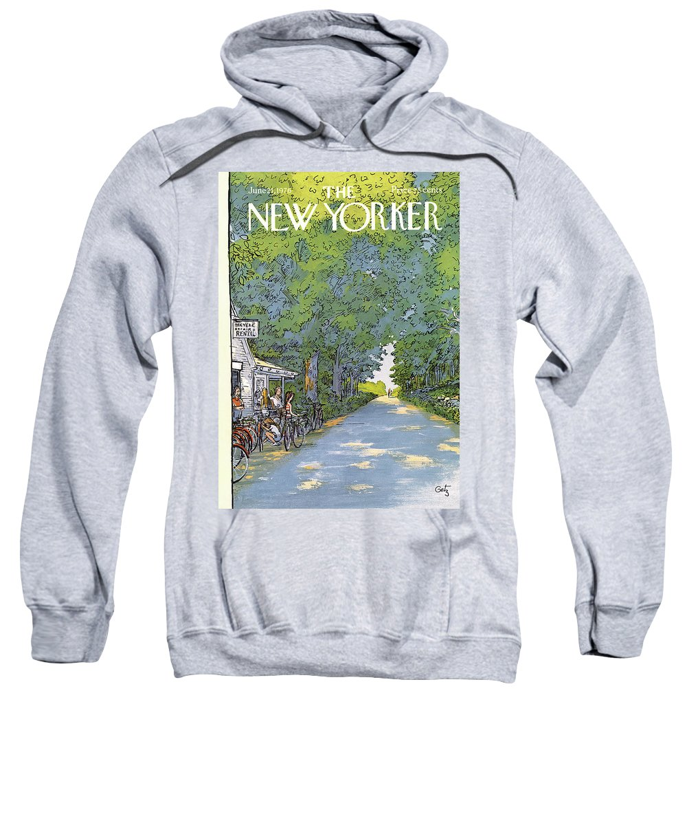 Summer Sweatshirt featuring the painting New Yorker June 21st, 1976 by Arthur Getz