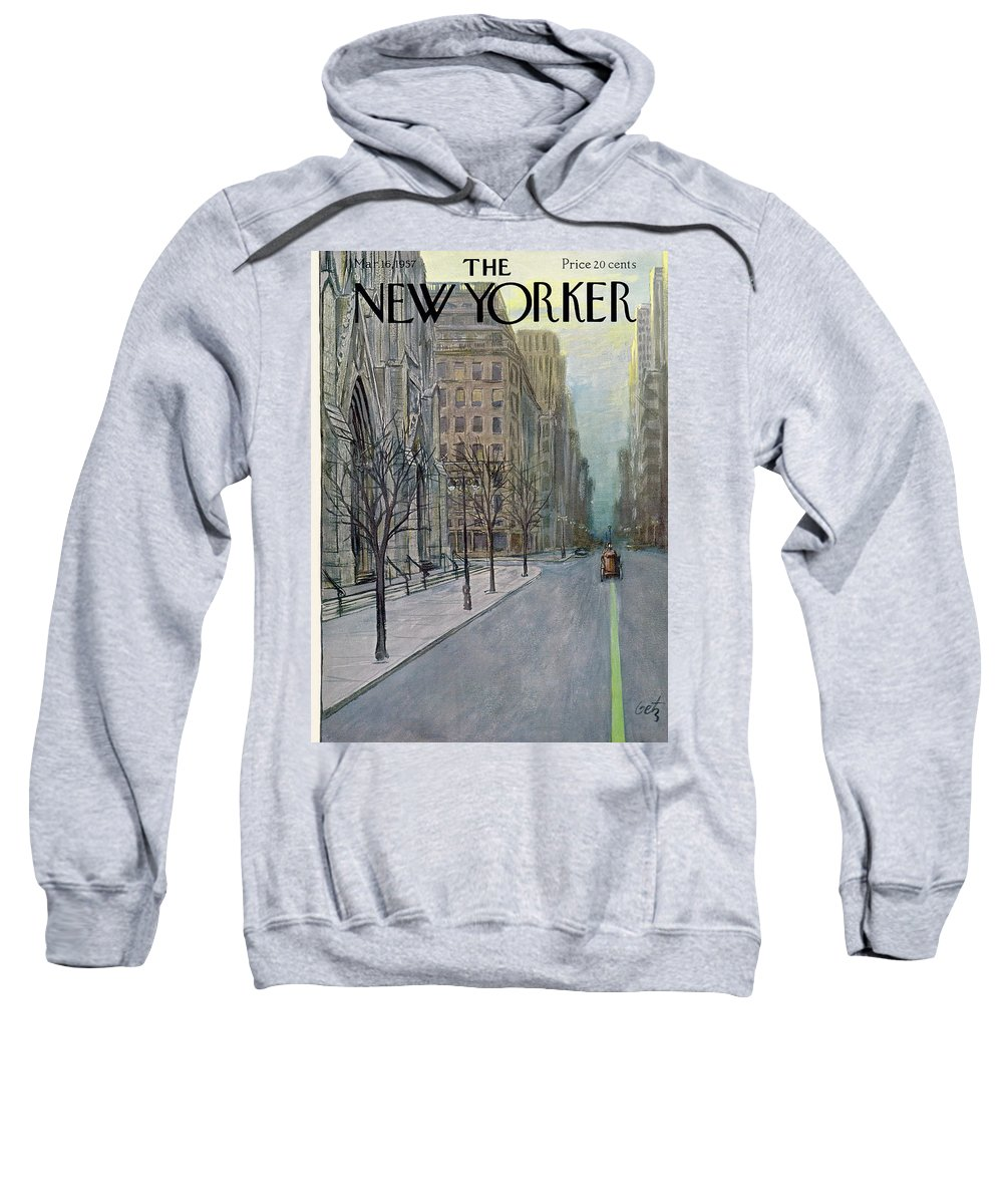 Urban Sweatshirt featuring the painting New Yorker March 16th, 1957 by Arthur Getz