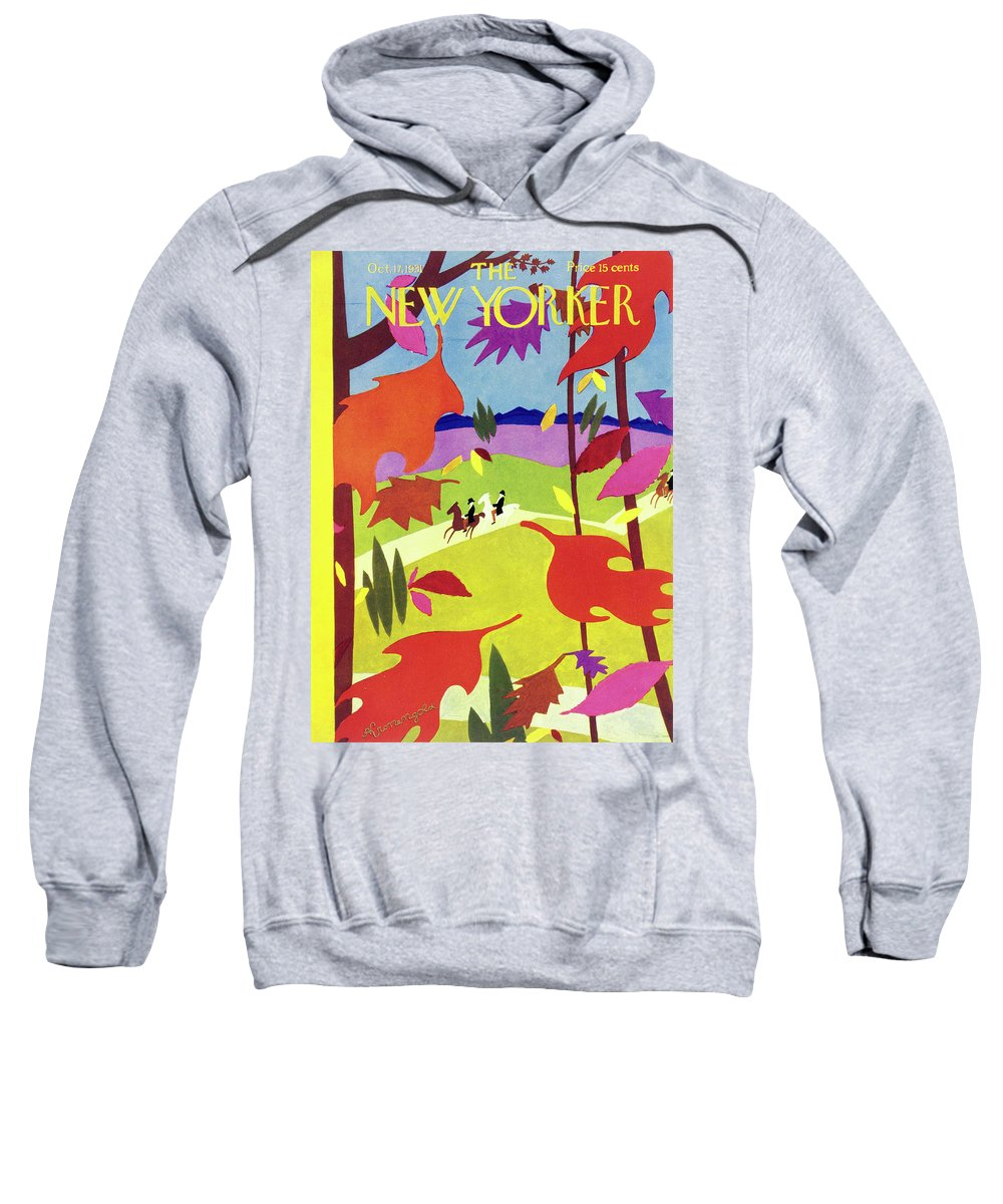 Illustration Sweatshirt featuring the painting New Yorker October 17 1931 by Arthur K Kronengold