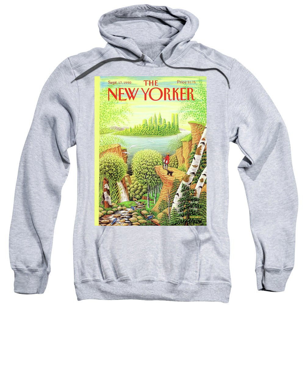 Animal Sweatshirt featuring the painting New Yorker September 17, 1990 by Bob Knox